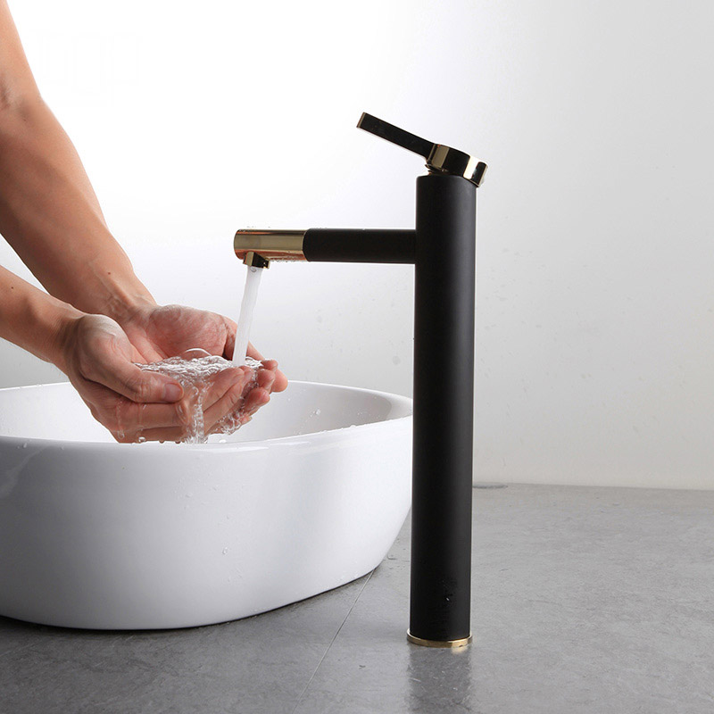 Free Shipping Fashion Brass White Black Baking Bathroom Faucet Bath Vessel Sink Basin Mixer Tap Cold Hot Water Tap Single Handle beelee bl8121 cold hot water copper basin faucet for bathroom single handle sink wash basin tap water tap free shipping