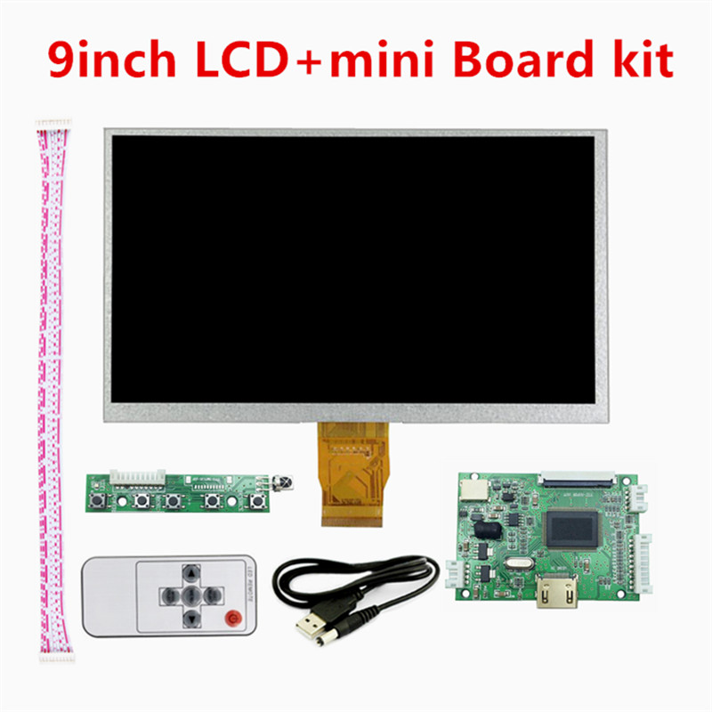 9 Inch 1024*600 Mini Display Screen Matrix TFT LCD Monitor HDMI Small Driver Board TTL Controller Input For Raspberry Pi Panel