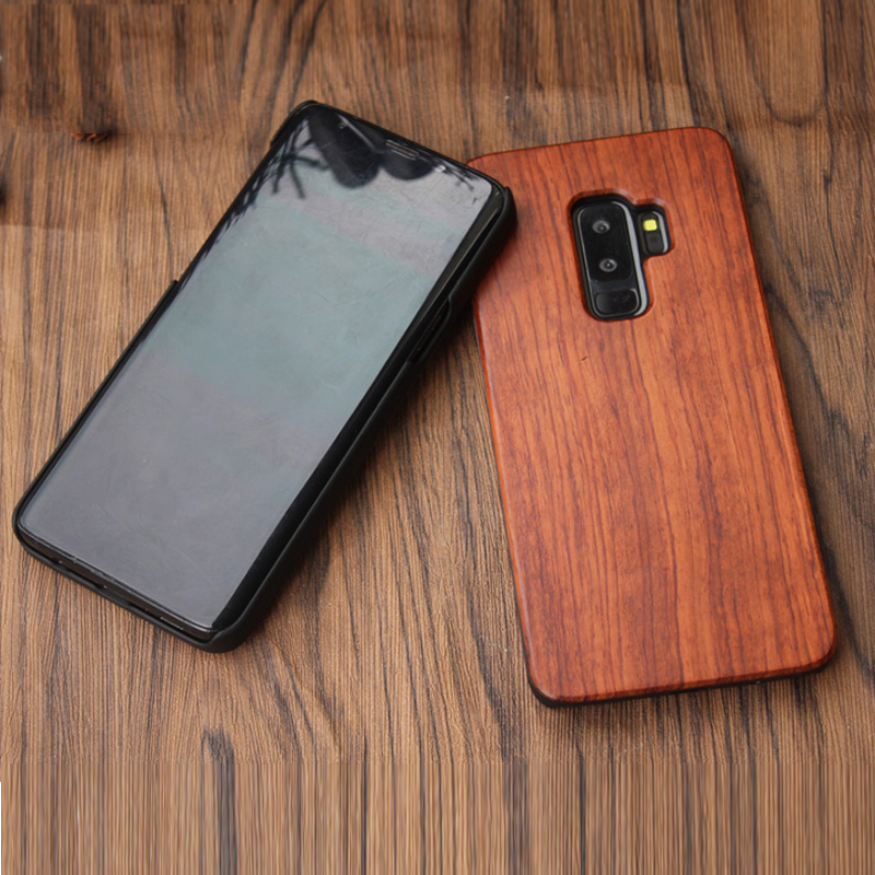 Real Wood Bamboo Samsung Galaxy S7 S6 Edge Case Vintage Wooden Samsung S8 S9 Plus Phone Cover