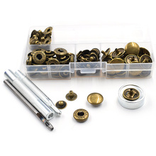 50 sets 15mmSnap Buttons+Manually install the tool. Boxed.DIY accessories. Metal buttons. jeans.Decorative Snaps rivet