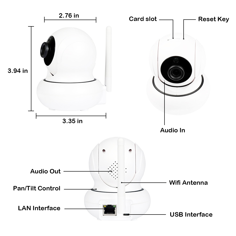 1080P WIFI PTZ Camera Surveillance Infrared IP Camera Onvif Network Port Wifi Face Tracking Security Camera Baby Monitor camera in Surveillance Cameras from Security Protection
