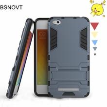 For Xiaomi Redmi 4A Case Hard PC Silicone + Slim Plastic Anti-knock Phone 5.0 BSNOVT