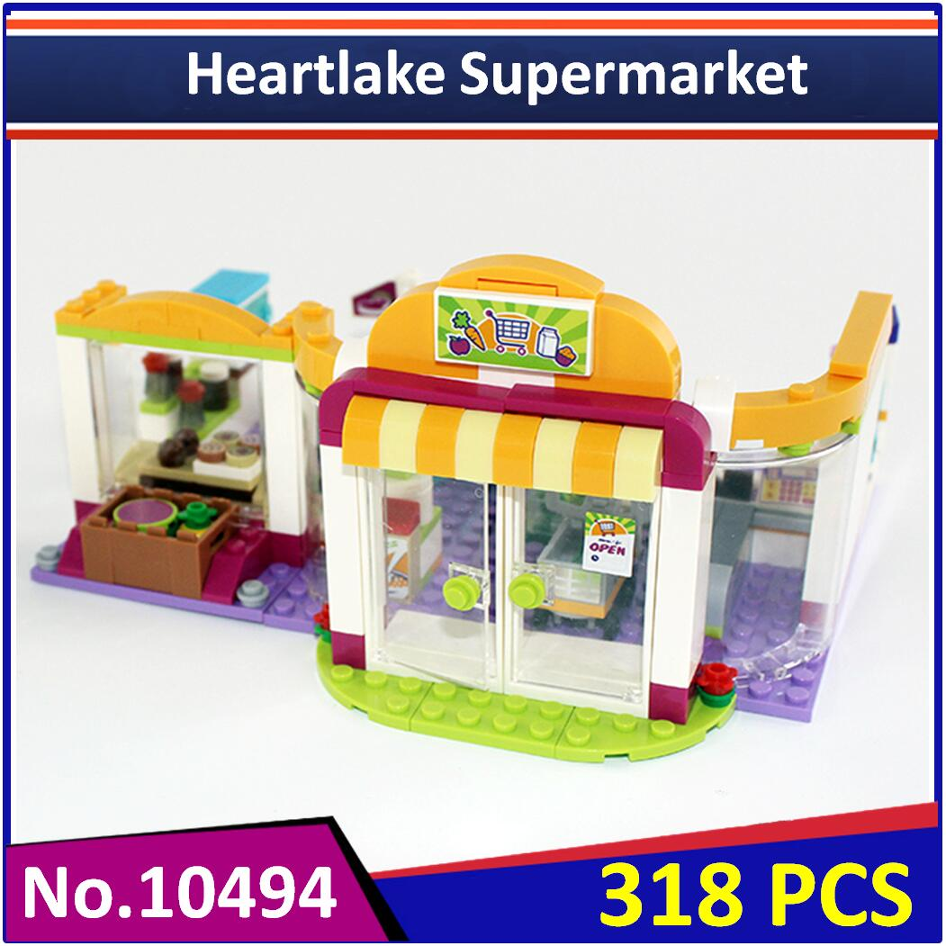 BELA 10494 legoes with legoes Friends Heartlake Supermarket 41118 Building  Block Figure Educational Toy For Children-in Blocks from Toys & Hobbies on  ...
