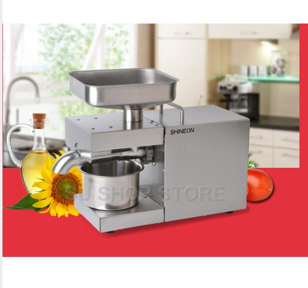 220V/110V Heat and Cold home oil press machine pinenut, cocoa soy bean olive oil press machine high oil extraction rate