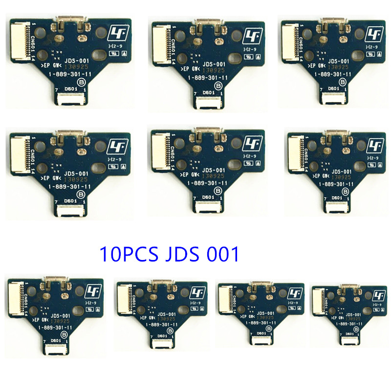 Купить с кэшбэком 10 pcs JDS 040 030 011 001 USB Charging Port Socket Board For Sony PlayStation 4 PS4 DS4 Pro Slim Controller Charger PCB Board