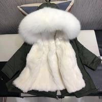 winter jackets real fur children Thicken Warm Parka For Kids Girls Snowsuit Real Rex rabbit Fur Jackets hooded raccoon fur coat