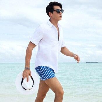 New Style S18 Men Stripe Shorts Summer Shorts Men Hot Fashion Beach Shorts Men Board Shorts Plus Szie S-XXXL 4