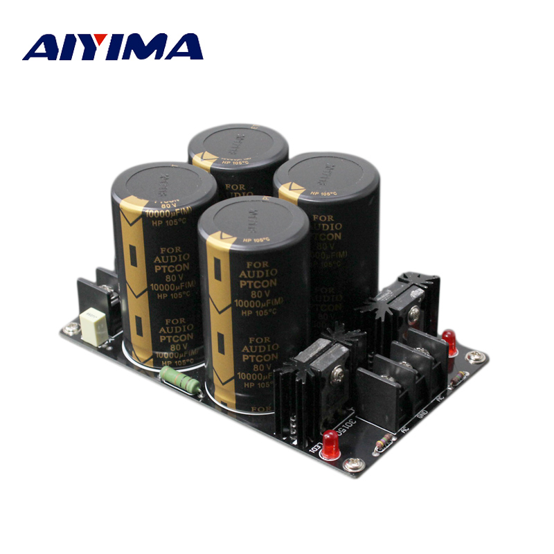 все цены на Aiyima Amplifier Rectifier Power board Amplifier Protect board Power supply Board Filter Power Supply Board 10000uf 80V онлайн