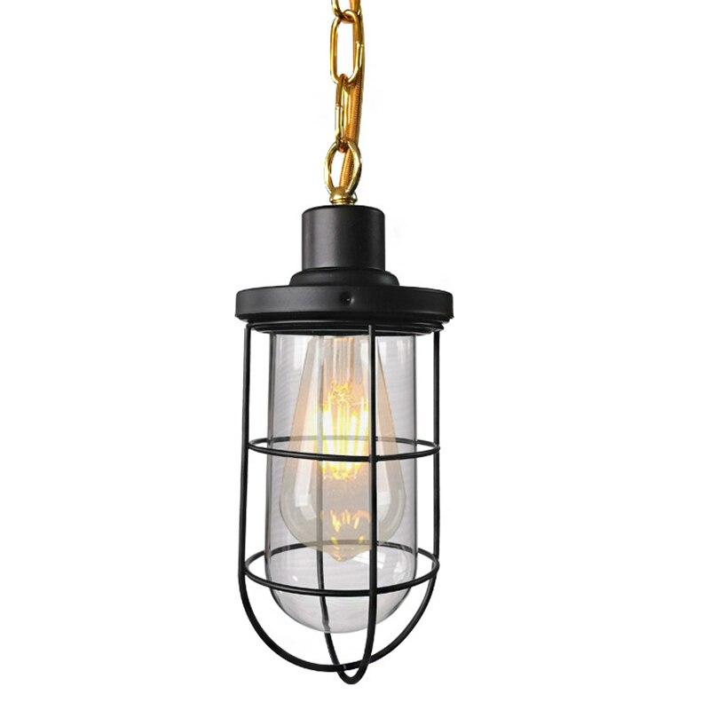 Vintage pendentif lumières américain balle verre pendentif lampe E27 Edison lumière ampoule salle à manger cuisine décor à la maison planétarium lampe