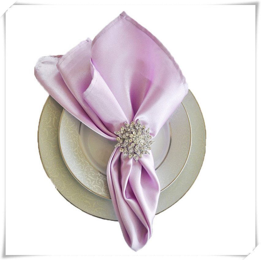 Free shipping hot selling satin table napkin for hotel 100 pcs/lot