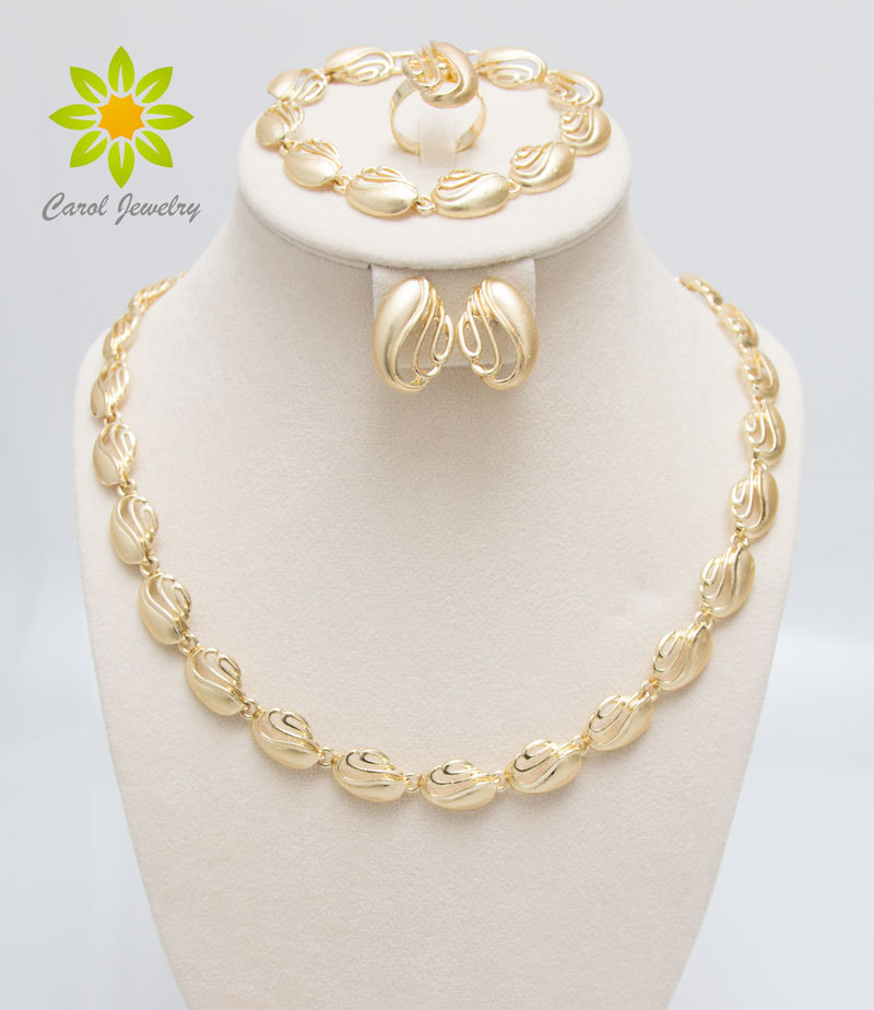 Jewelry-Sets Costume Wedding-Fashion African Gold-Color Women for Elegant