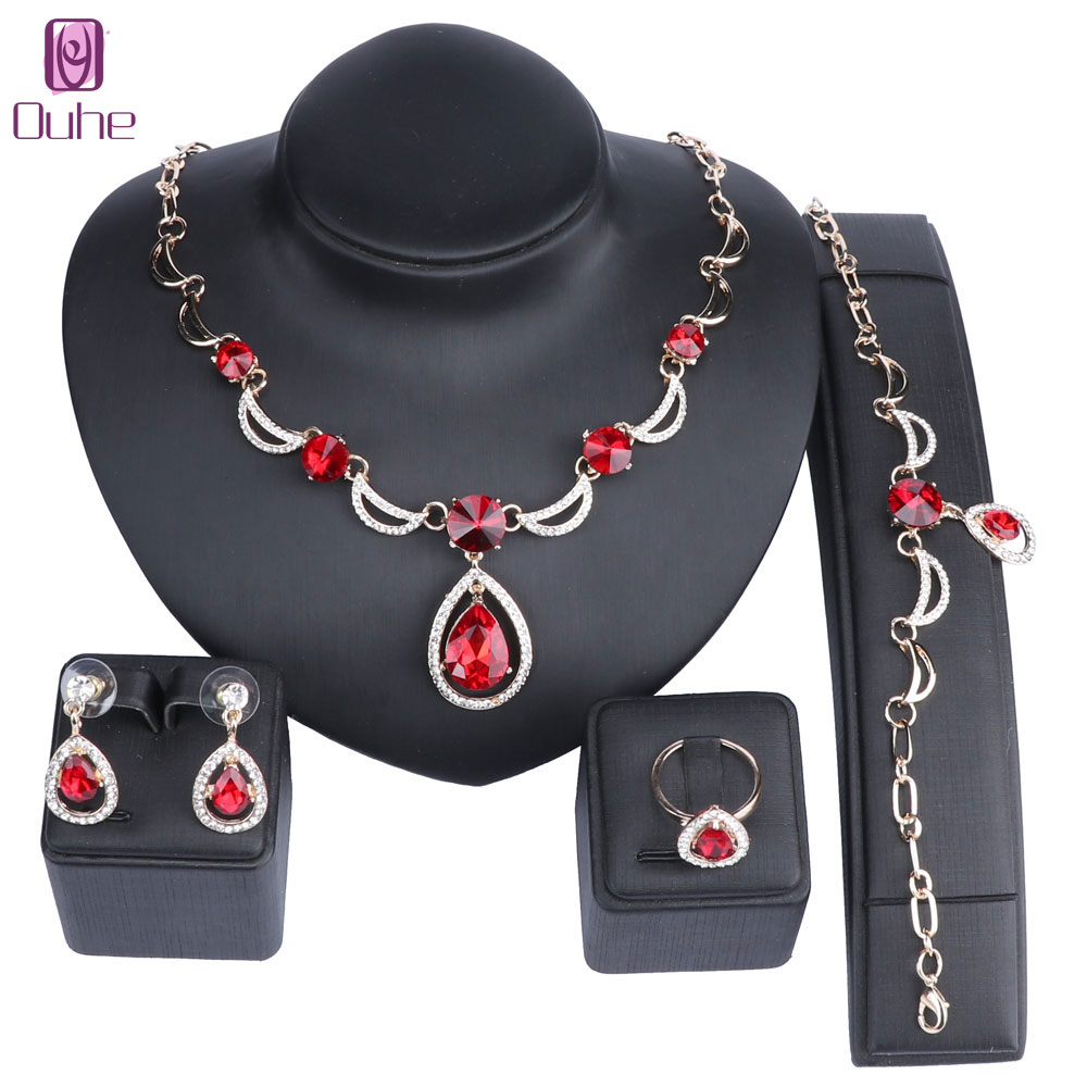 Bridal Gift Nigerian Wedding African Beads Jewelry Set Brand Woman