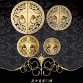 furniture of Ming and Qing Dynasties cabinet handle copper fittings copper round carved bookcase wardrobe cabinet