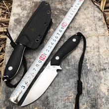 High quality D2 steel straight knife hunting high hardness outdoor self-defense knife tactical army Survival knife EDC tools