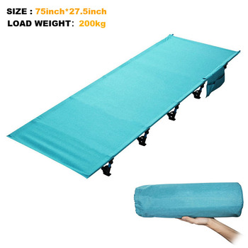 Sturdy Comfortable Portable Folding Camp Bed Cot Sleeping Outdoor mat Folding Bed With Aluminium Frame