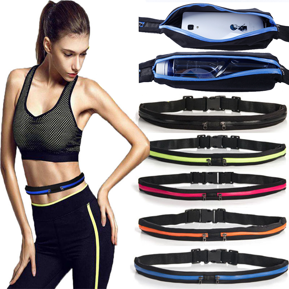 Sports Bag Running Waist Bag Belt Pocket Jogging Portable Waterproof Cycling Bum Waistbag Men Women Fashion Travel  Sport Pouch