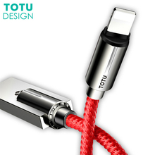 TOTU Mobile Phone cable Data Cable for Iphone X 8 7 6 Data Charger for iPhone Data Charger Line Zinc Alloy USB Cable for ipad tsc2 tsce data collector to receiver cable for trimble