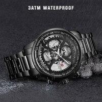 Новые крутые часы для мужчин NAVIFORCE для спорта лучший бренд класса люкс сталь кварцевые Автоматическая Дата Мужской армии Военная