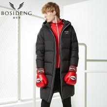 BOSIDENG 2017 New Men Casual Duck Down jacket BOY Winter Long Down Parka Hood Down Coat Warm Thick Business Outwear B70142011