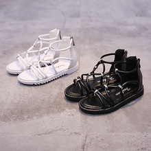 Black and white Summer New arrived Hot promote Children sandals Girls informal Roman gladiator sandals Korean fashion Princess sneakers