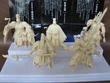 Pvc figure modelo Episodio Tres Reinos Zhuge Liang Zhou Yu Cao Cao, Guan Yu Lu Bu Juguetes adornos 5 unids/set