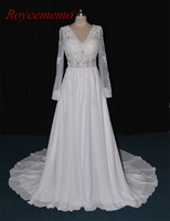 Real Image 2017 New Lace Beach Style Wedding Dress Vestido De Noiva Hot Sale Bridal Dress