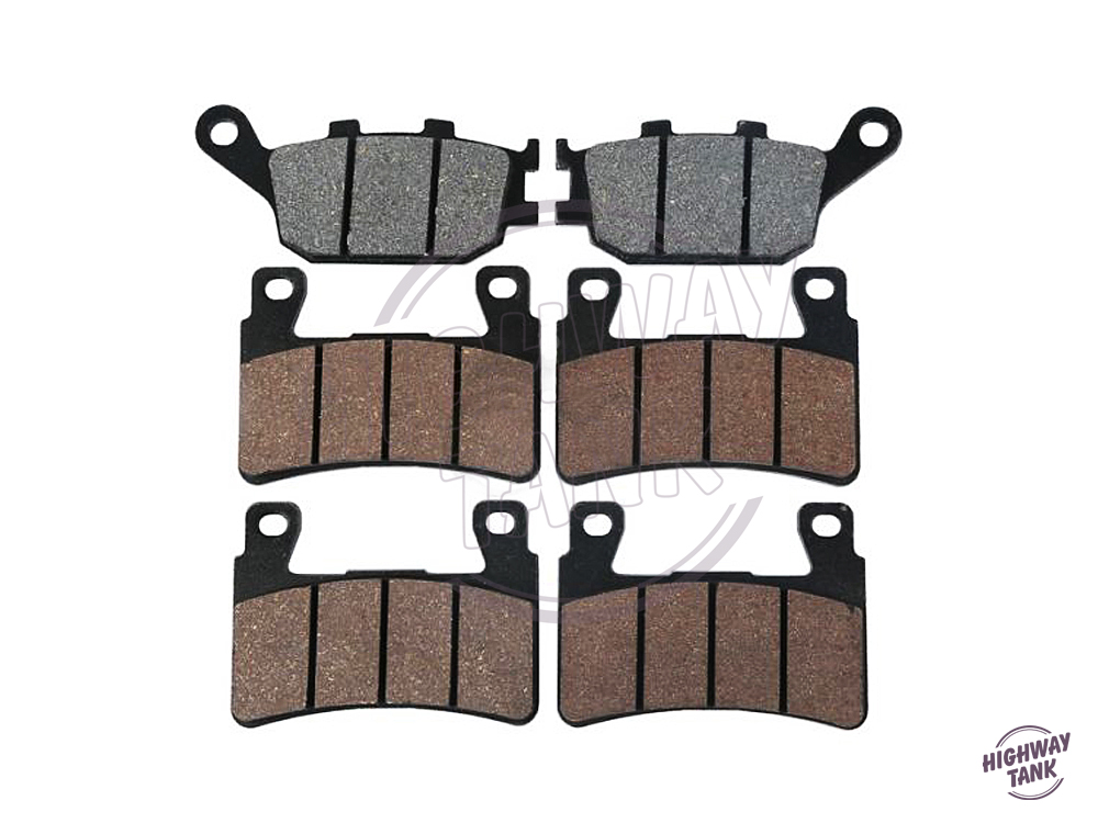 ФОТО 6 Pcs (3 sets) Motorcycle Front & Rear Disc Brake Pads Brake Disks case for HONDA CBR600RR 600RR 2003 2004 free shipping