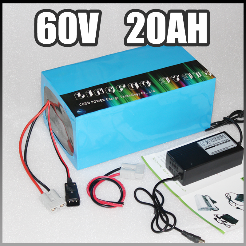 60V 20Ah Electric Scooel battery pack 60V Ebike battery 1500W Samsung Electric Bicycle lithium Battery with BMS Charger 60v