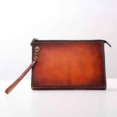 Ручная работа, винтажная Женская и мужская сумка из растительного дубления, держатель для денег, клатч, кошелек, карманные мужские клатчи, коровья кожа, конверт