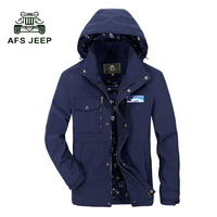 AFS JEEP New Spring Jacket Men Fashion Brand Clothing Zipper Coat Men Top Quality Casual Male