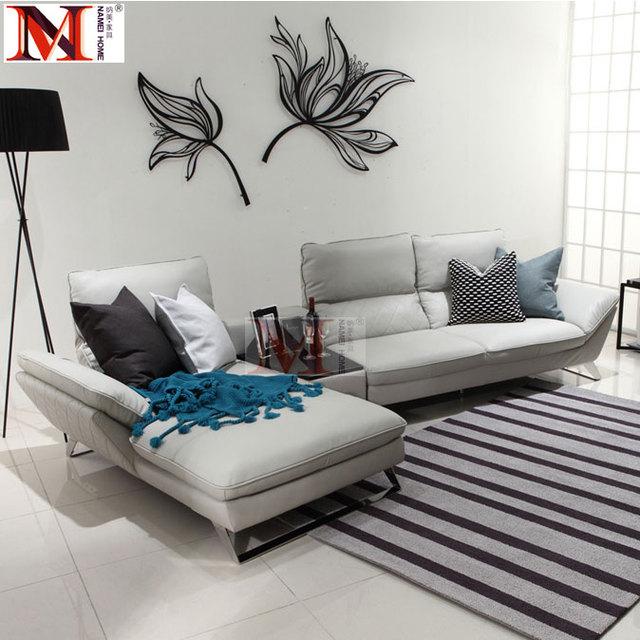 Cuoio reale della mucca divano componibile soggiorno divano ad ...
