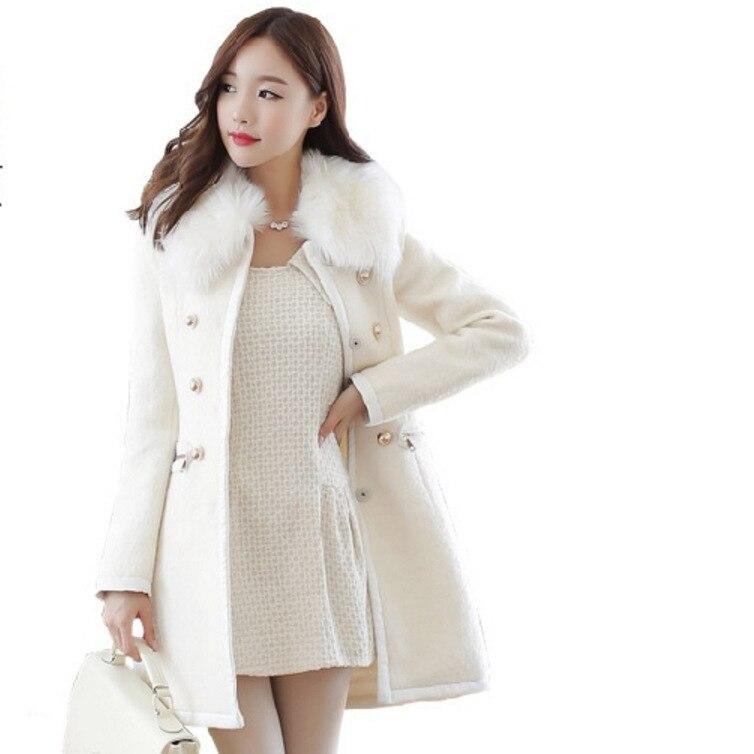 Blends Coats Woman Winter 2018 Slim Women Coat Woman Sale Cloth Winter Women Coat Windbreaker