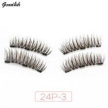 Genailish 3 Magnet 6D Magnetic Eyelashes Lashes False Eye Makeup 24P-3
