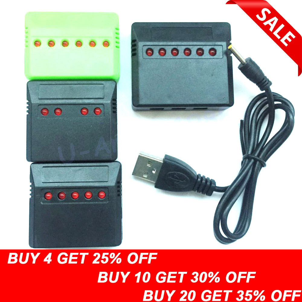 1db 3.7V Lipo akkumulátor adapter töltő USB interfész 4 in 1/5 in 1/6 in 1 a Syma X5 X5C X5C-1 H107 H107C H8 nagykereskedelem