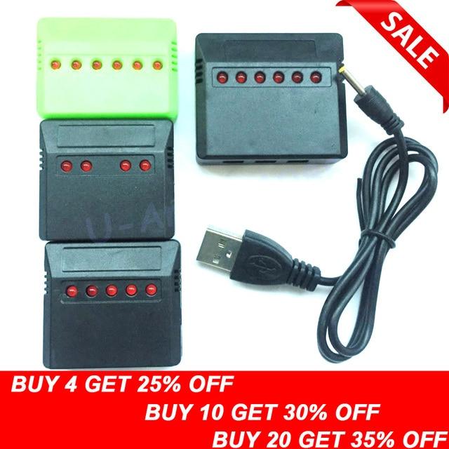 1pcs 3.7V Lipo Battery Adapter Charger USB Interface 4 in 1 / 5 in 1 / 6 in 1 for Syma X5 X5C X5C-1 H107 H107C H8 Wholesale