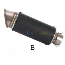Motorcycle Exhaust Pipe 51mm Motorcycle Exhaust Pipe Muffler Carbon fiber For Suzuki Bandit GSF 500 600 650 стоимость
