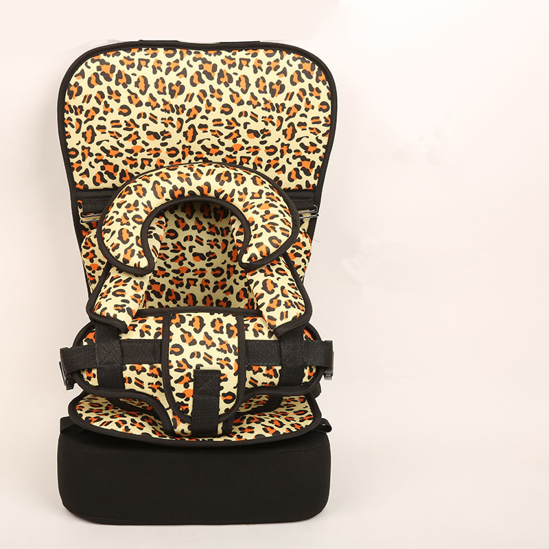 1 Piece Leopard Baby Portable Car Seat Cushion Child Safety Seat Kid Simple Dining Chair Small/Big Size Increase Pad Optional