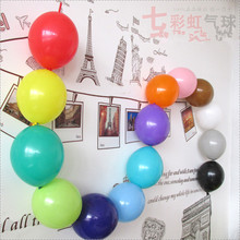 50pcs Tail Balloons Mix Colors Inflatable Latex Balloons Toy for Wedding Birthday Party New Year Decoration 6inches Link Balloon