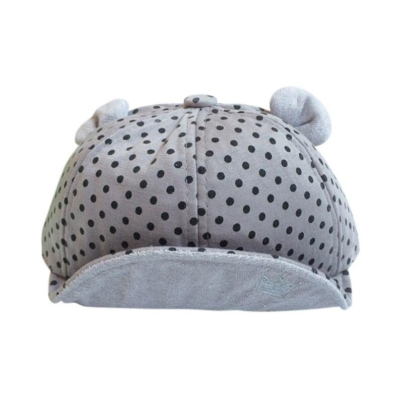 Детские мягкие-пирсинг шляпа ребенок милый горошек Кепки S младенческой Детские осенние и зимние Бейсбол Кепки для От 1 до 2 лет