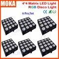 6PCS/LOT 16 Heads Led Matrix Light 30W RGB 3 in 1 COB Led Par Light Good Wall Wash Effect For Club