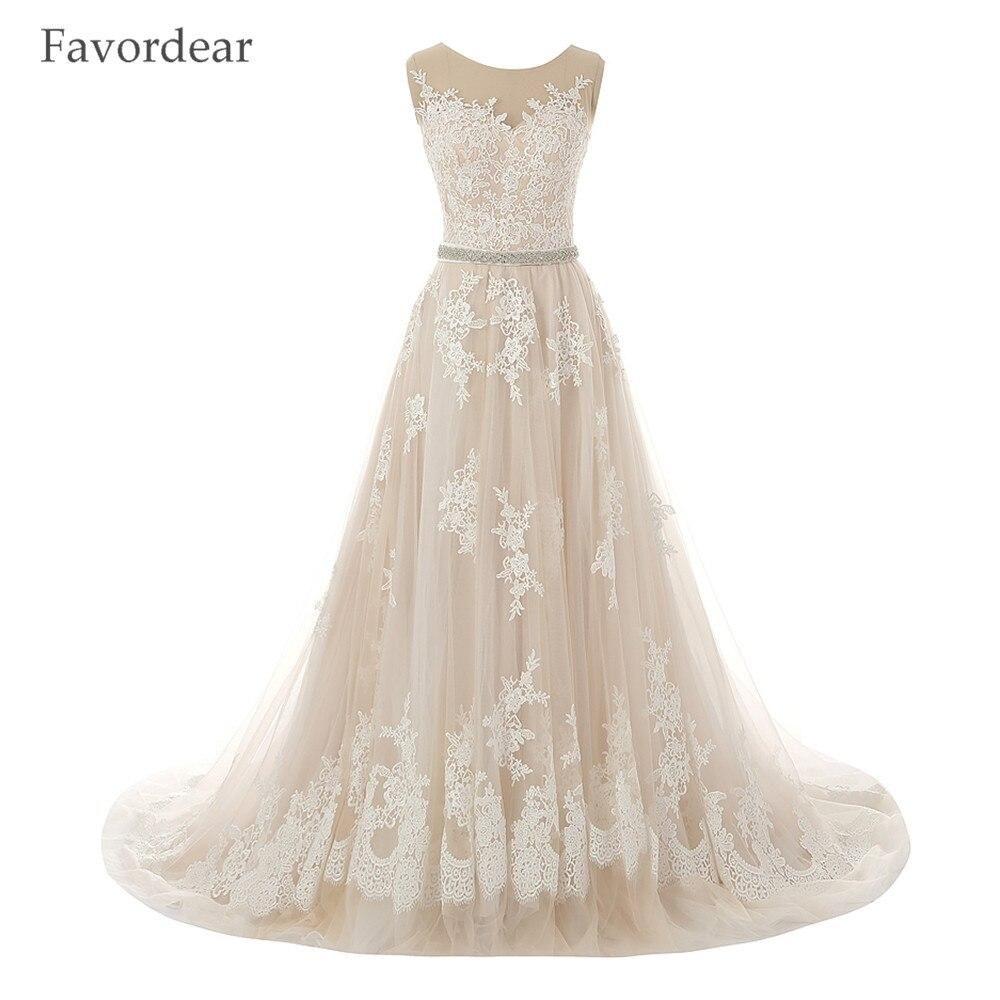 Champagne Color Wedding Dresses Vestidos De Noiva 2017: Favordear Vestido De Noiva 2017 Champagne Wedding Dress A