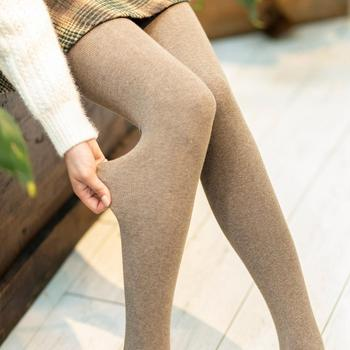 Marca Caramella nueva primavera invierno mujeres medias rayas Terry medias Color sólido Collant Femme medias estándar Pantyhose Femme
