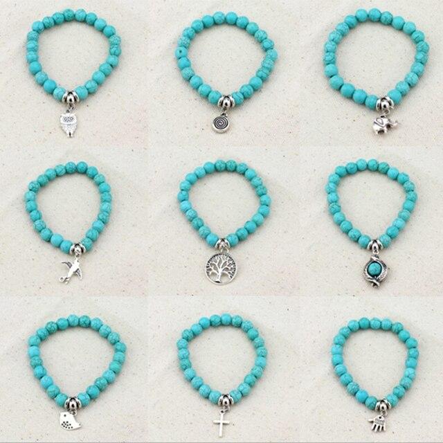 Bracelet Turquoise Veritable Et Argent