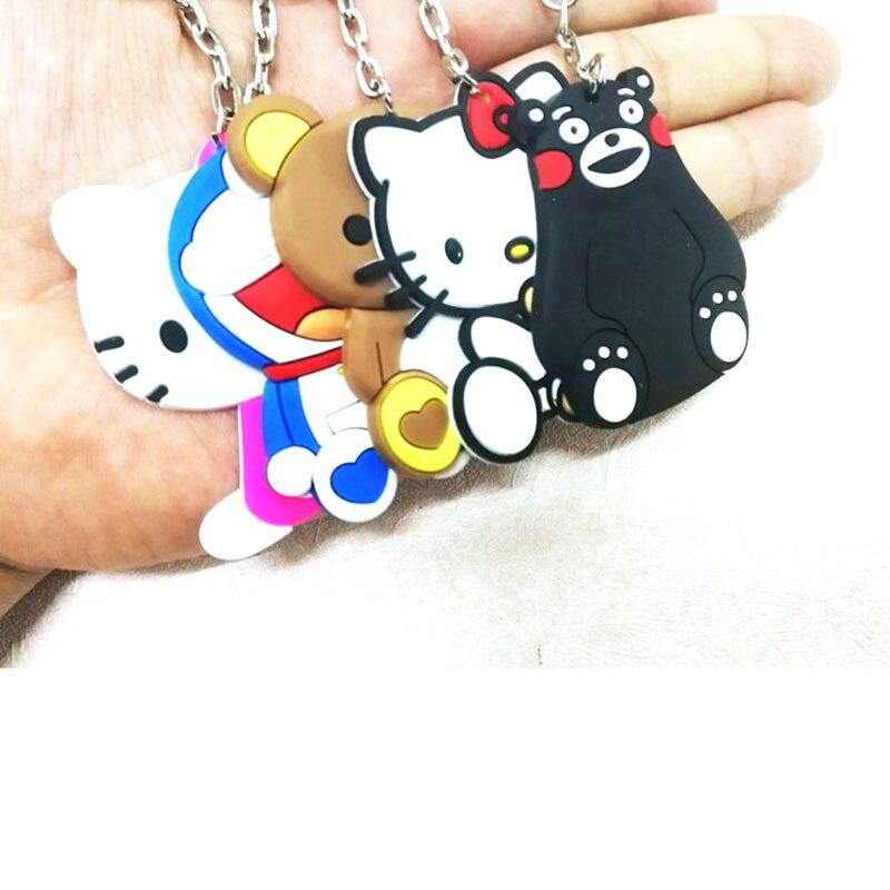 1 Pcs Cartoon Totoro Keychain Kinder Kind Geschenke Nette Kt Stich Sipderman Amin Silikon Schlüsselring Frauen Tasche Auto Schlüsselhalter