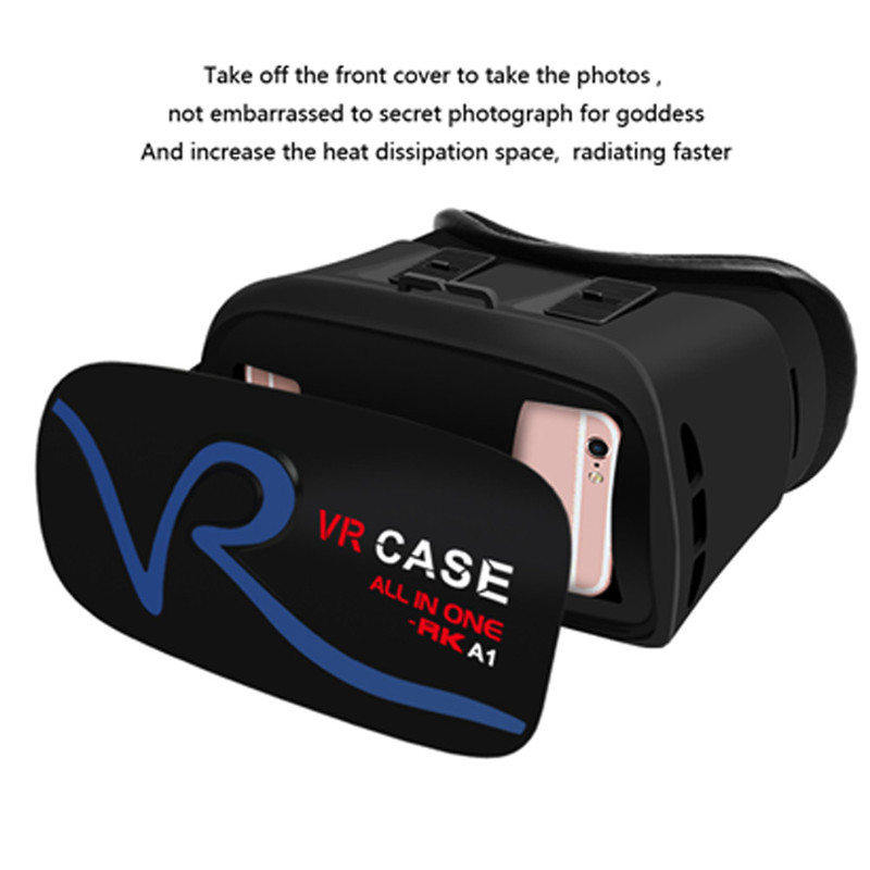 "3D VR Headset Virtual Reality Glasses VR Case All In One For 4.0""-5.8"" iPhone Samsung Moto LG Nexus HTC Wholesale 4"