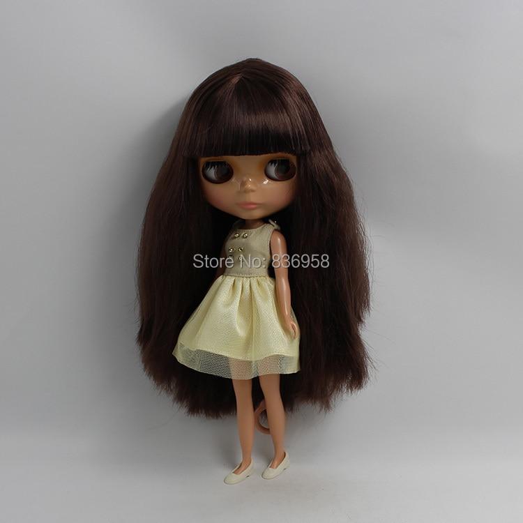 где купить Dark Skin Nude Doll For Series No.0312 BROWN HAIR дешево