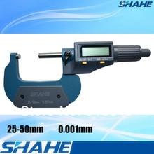 Хорошее Качество Высокая Точность 0.001 мм 25-50 мм микрометр электронной цифровой микрометр 0.001 мм