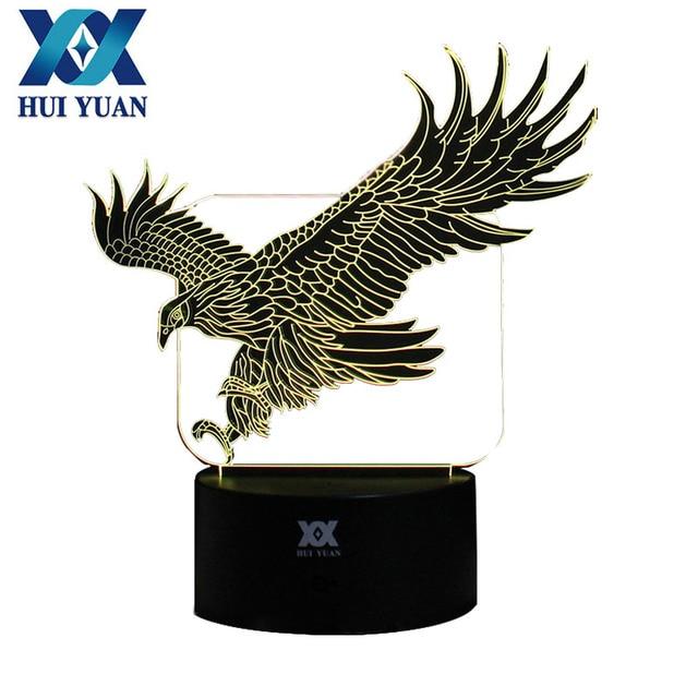 Eagle 3D Night Light RGB Changeable Mood Lamp LED Light DC 5V USB  Decorative Table Lamp