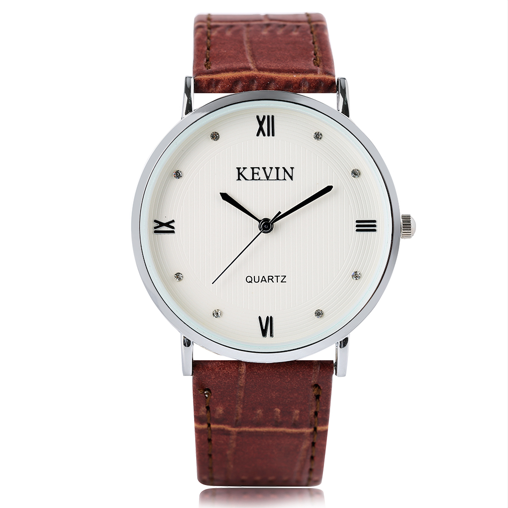 Women's Fashion Crystal Dial Watch Simple Analog Ladies Quartz Wrist Watch White/Brown Leather Strap Band Modern Gift for Women fashion dress watch elegant crystal dial red faux leather band strap blink quartz analog casual lady women wrist watch stylish