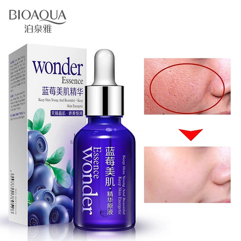 BIOAQUA Brand Blueberry Hyaluronic Acid Liquid Face Care Plant Essence Anti Wrinkle Anti Aging  Whitening Moisturizing Oil 15ml